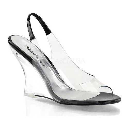 Women's Fabulicious Lovely 450, Size: 5 M, Clear/Black/Clear