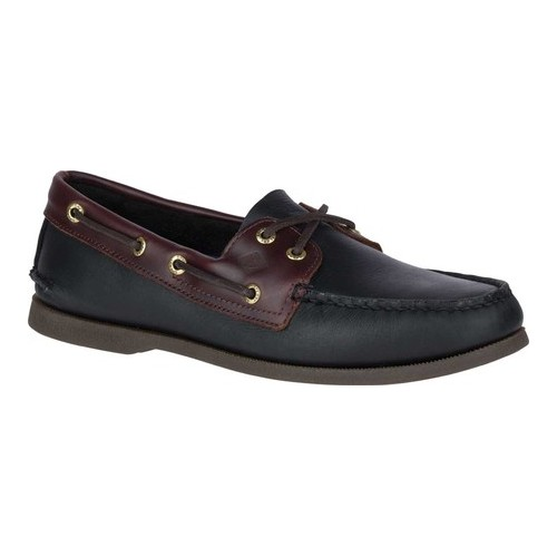 Men's Sperry Top-Sider Authentic Original Boat Shoe, Size: 7 M, Black/Amaretto