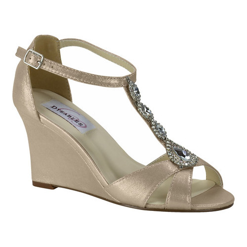 Women's Dyeables Codi Wedge Sandal, Size: 9.5 M, Nude Shimmer