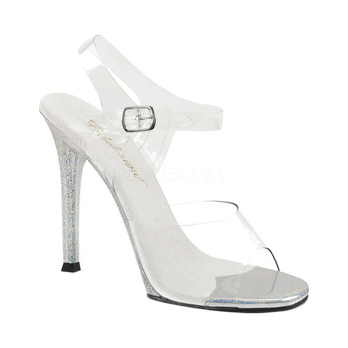 Women's Fabulicious Gala 08MG Ankle-Strap Sandal, Size: 7 M, Clear PVC/Clear