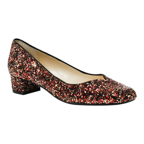 Women's J. Renee Bambalina Low Block Heel Pump, Size: 6 M, Burgundy Fabric