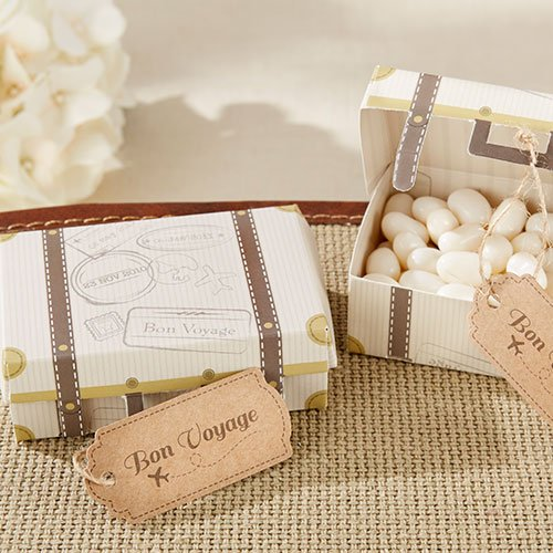 Bon Voyage Vintage Suitcase Favor Box