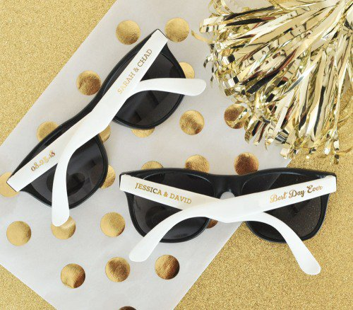 Personalized Two-Tone Wedding Sunglasses
