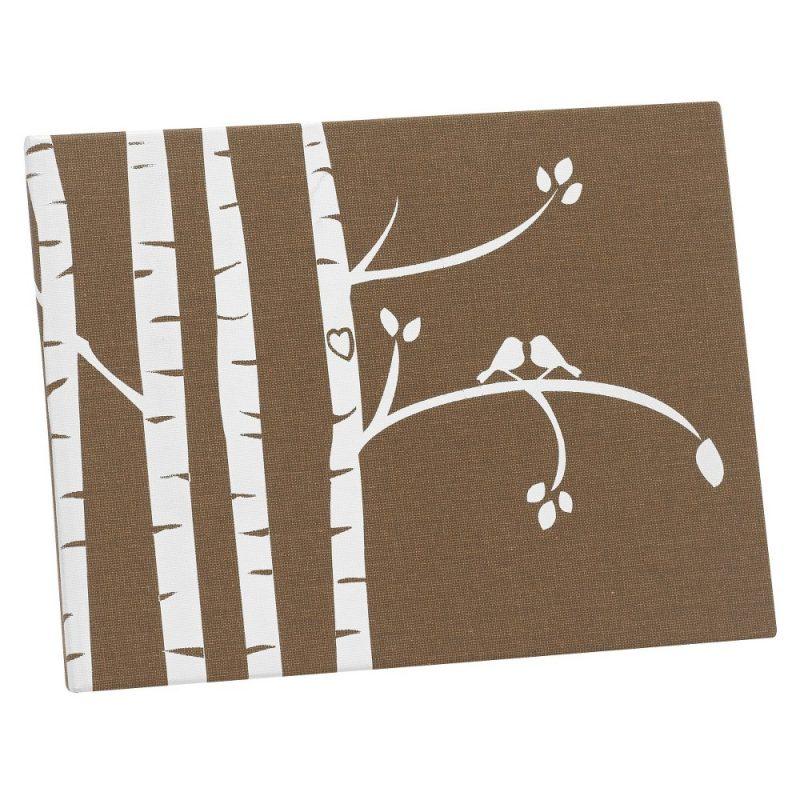Birch Tree Love Birds Guest Book