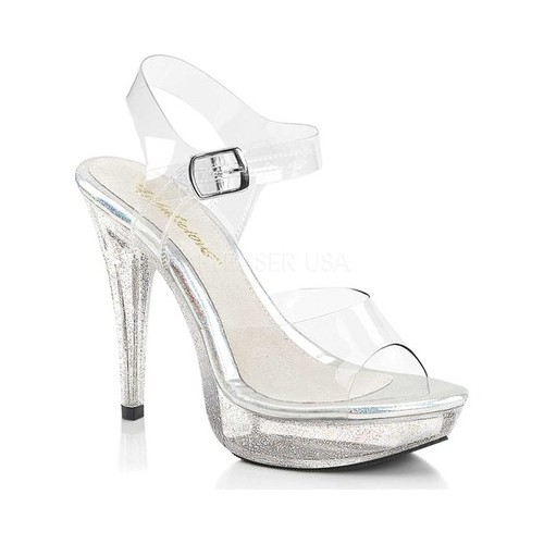 Women's Fabulicious Cocktail 508MG Platform Sandal, Size: 14 M, Clear PVC/Clear