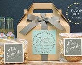 Set of 6 Out of Town Guest Box // Wedding Welcome Box // Wedding Welcome Bag // Out of Town Guest Bag // Wedding Favor