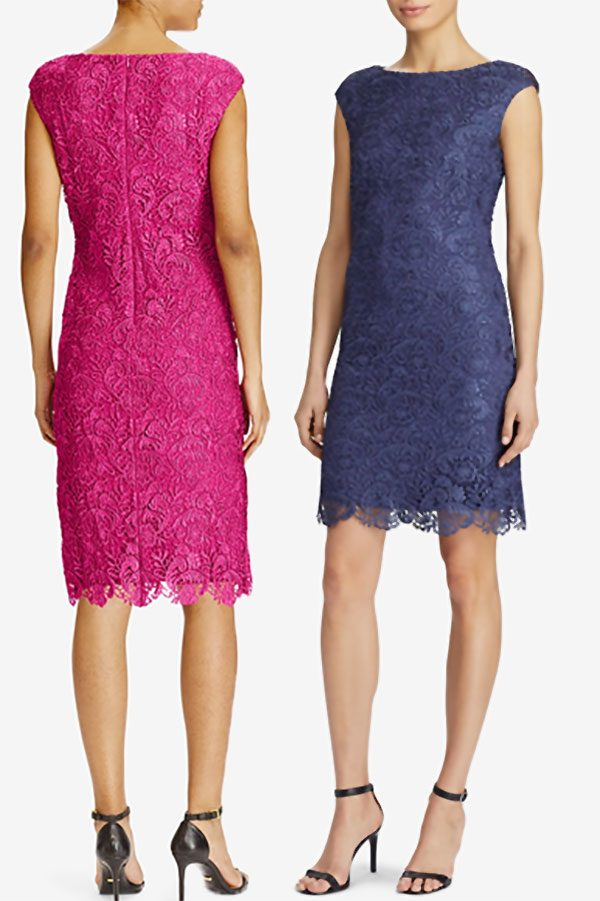 22e9e097701 Short Lace Dress. Shown in Navy Blue and Rose Pink. Other colors available.  (There may be a sale. Tap for current price.)