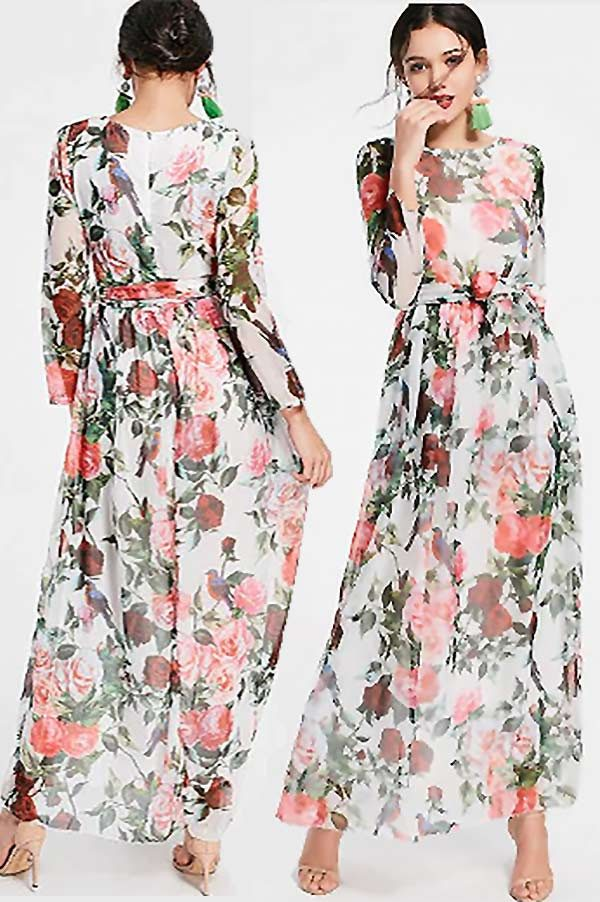 614139c7464f Floral Print Maxi Dress. Other Prints Available.