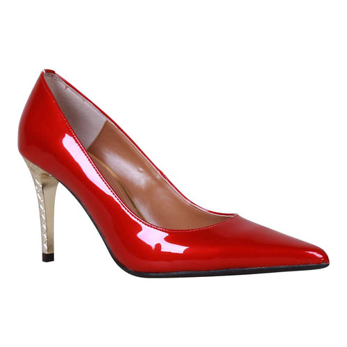 Women's J. Renee Maressa Pump, Size: 7 M, Red Polyurethane