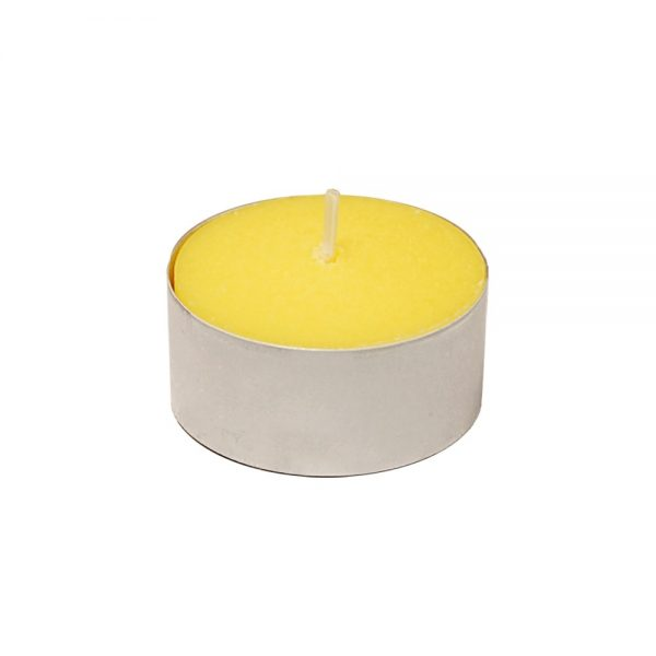 100ct Lumabase Yellow Extended Burn Citronella Tea Light Candles