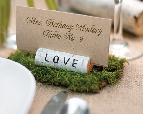 Rustic Love Place Card Holder (Set of 6)