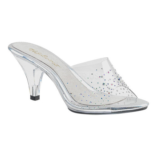 Women's Fabulicious Belle 301SD Slide, Size: 7 M, Clear PVC/Clear