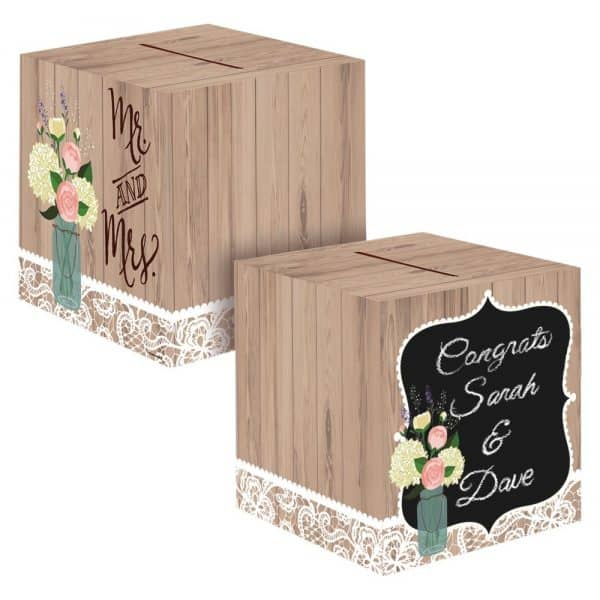 Rustic Wedding Card Box, each