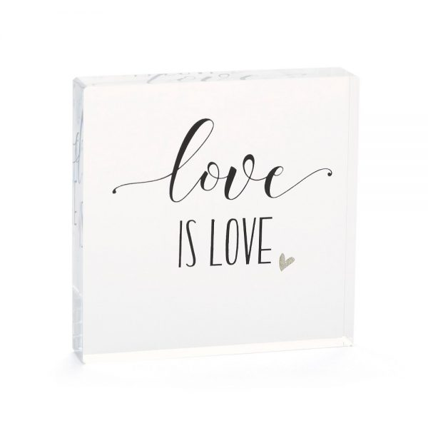 Hortense B. Hetwitt 'Love is Love' Cake Topper Clear