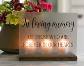 Wedding Memorial Sign In Loving Memory Wedding Sign Acrylic Wedding Sign Memorial Candle Memory Wedding Decor Wedding Luminary