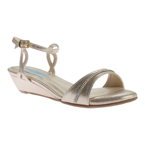 Women's Dyeables Mallory Wedge, Size: 8 W, Nude Shimmer