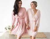 Bridesmaid Robes Bridesmaid Gifts Bridal Party Robes Wedding Robes Bride Robe Bridesmaid Robe Bridal Party Robe (CANDY LACE)