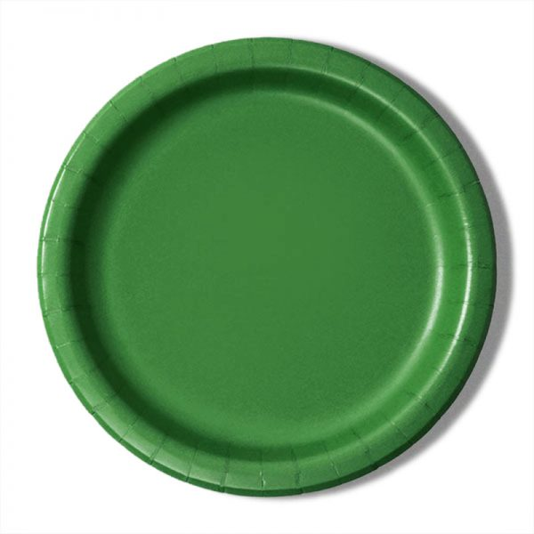 "9"" Emerald Paper Dinner Plates - Quantity: 8 - Household Supplies by Paper Mart"