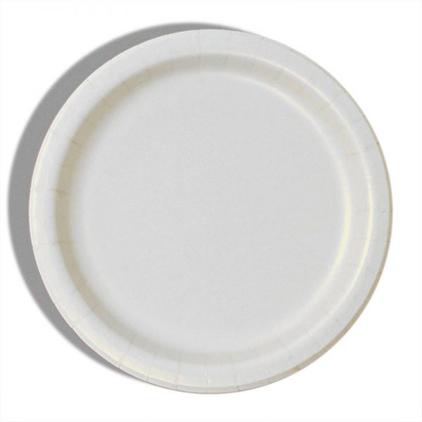 "9"" White Paper Dinner Plates - Quantity: 8 - Household Supplies by Paper Mart"