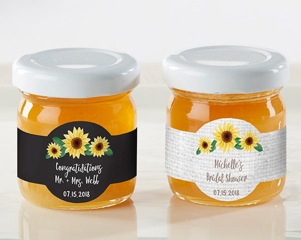 Personalized Sunflower Clover Honey (Set of 12)