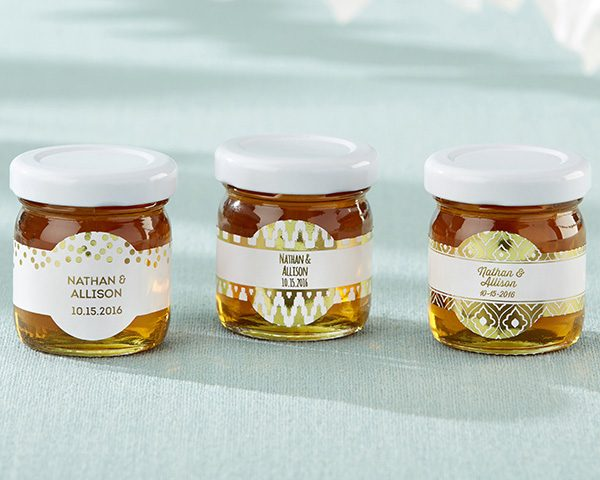 Personalized Gold Foil Honey Jar (Set of 12)