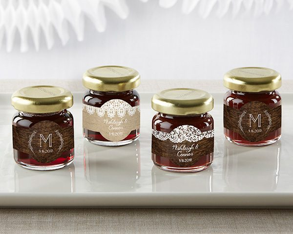 Personalized Rustic Charm Wedding Strawberry Jam (Set of 12)