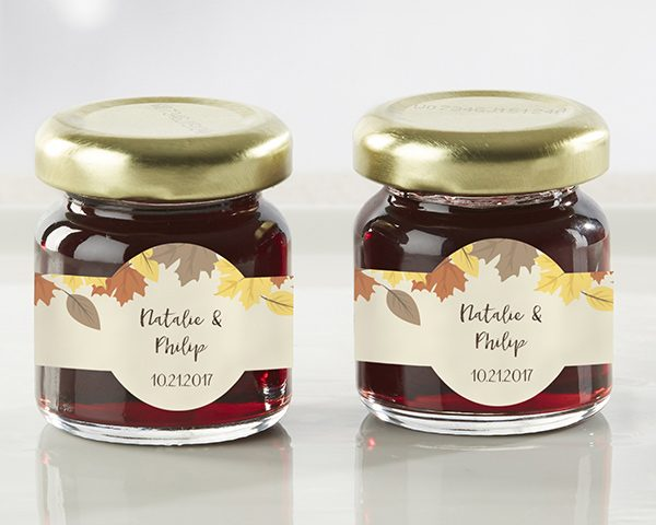 Personalized Fall Leaves Strawberry Jam (Set of 12)