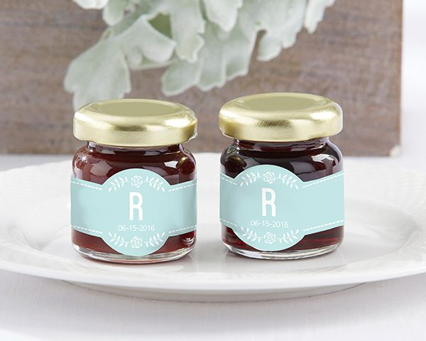 Personalized Rustic Wedding Strawberry Jam (Set of 12)