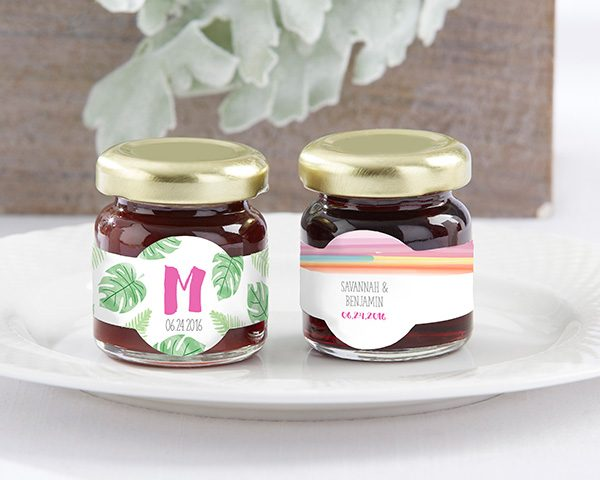 Personalized Pineapples & Palms Strawberry Jam