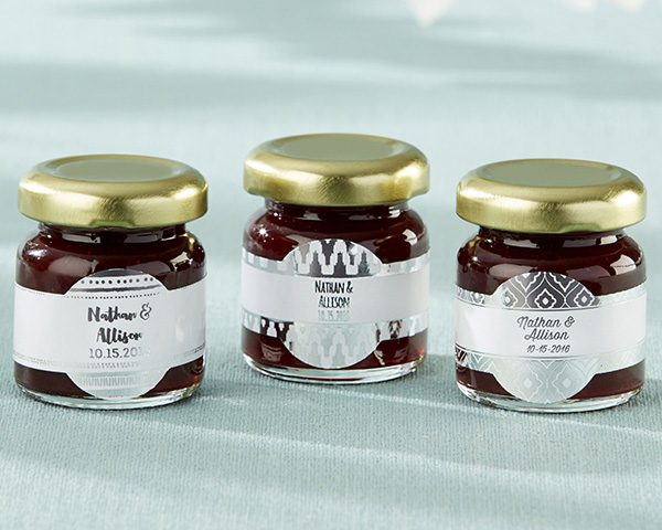 Personalized Silver Foil Strawberry Jam (Set of 12)