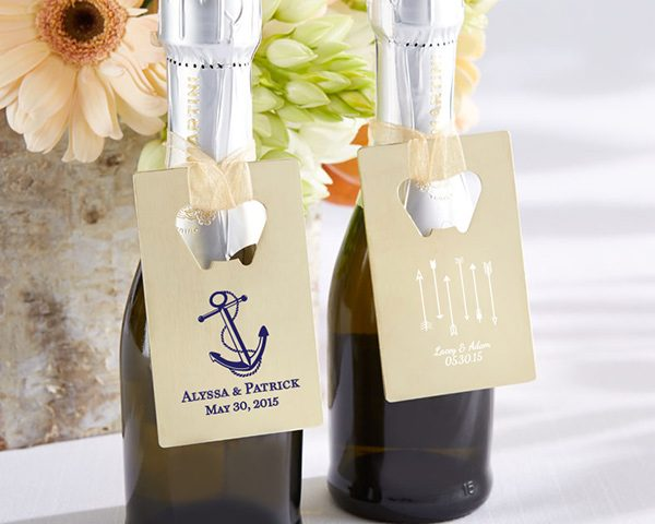 Personalized Gold Credit Card Bottle Opener - Wedding/Bridal