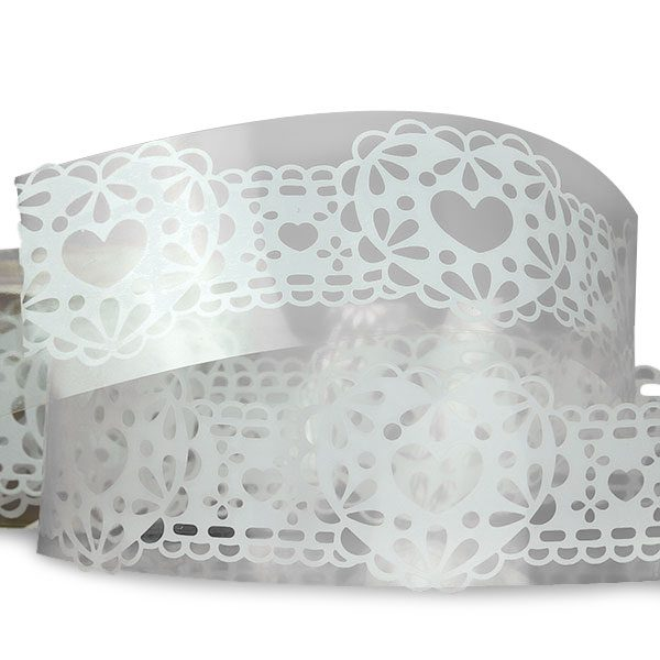 "White Heart Lace Tape 1 1/4"" X 3' by Ribbons.com"