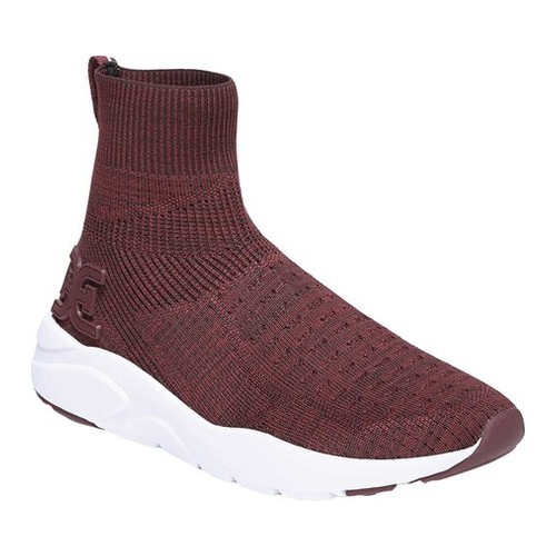 Women's Sam Edelman Tara Sneaker, Size: 6.5 M, Wine Stretch Knit