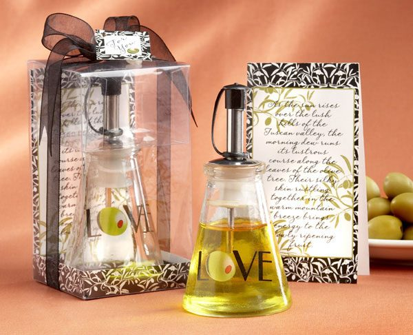 Olive Oil Bottle Bridal Shower Favor in Signature Tuscan Box