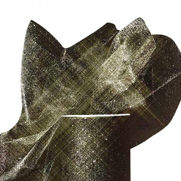 """Black Sparkling Tulle Roll Colored - 6"""" X 25yd - Fabric - Width: 6"""" by Paper Mart"""