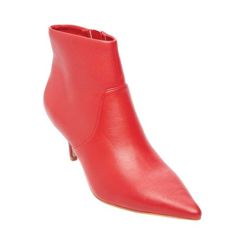 Women's Steve Madden Rome Ankle Boot, Size: 6 M, Red Matte Leather