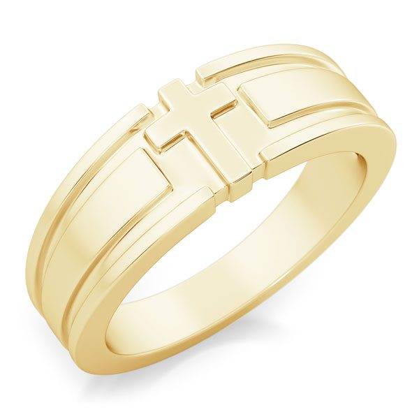 I Am the Way Men's 14K Gold Cross Ring
