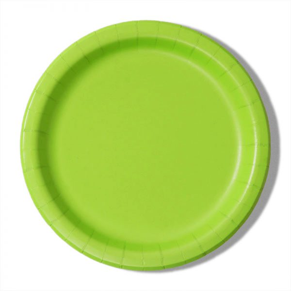 "7"" Lime Paper Lunch Plates - Quantity: 8 - Household Supplies by Paper Mart"