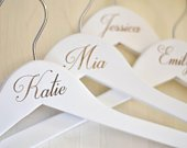 Engraved Wedding Hanger Bride Bridesmaid Dress Hangers Personalized Bridesmaid Gift