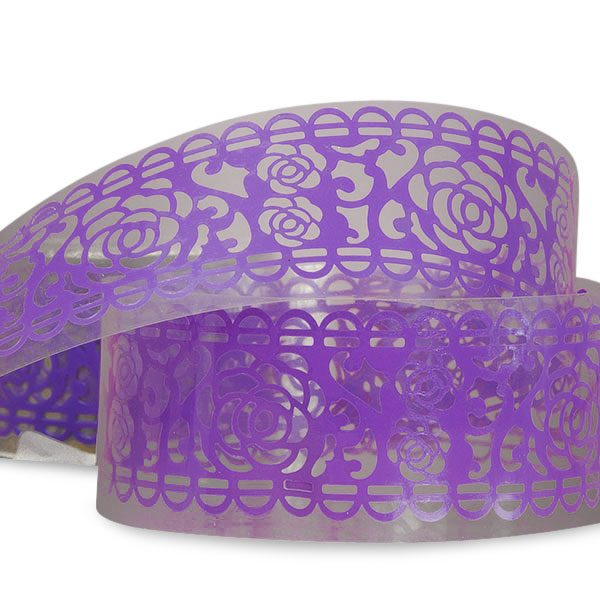 "Lace Purple Rose Washi Tape 1 1/4"" X 3' by Ribbons.com"