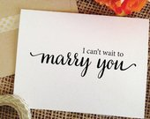 Wedding Card I cant wait to marry you card for groom on wedding day card groom wedding card for bride gift to groom gift from bride marryyou