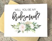 Will you be my Bridesmaid Cards, Bridesmaid Proposal, Wedding Cards, Floral To My Bridesmaid, Bridal Cards, Bridesmaid Gift, SU