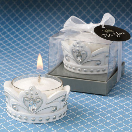White Crown Candle Holder