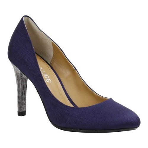 Women's J. Renee Gilana Pump, Size: 10.5 M, Navy Faille Fabric