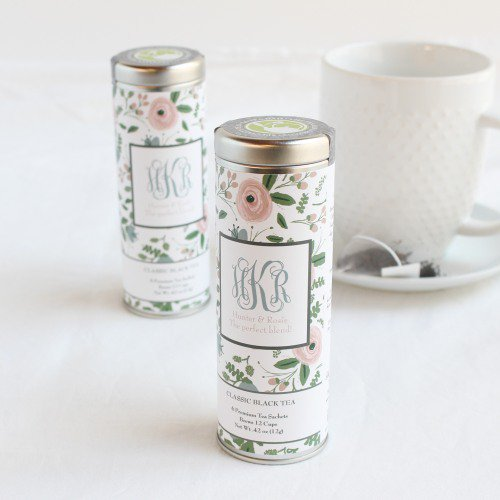 Personalized Tea Tin Favor