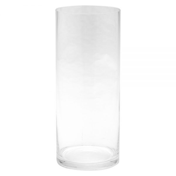 "Diamond Star Glass Cylinder Vase Clear (12""x5"")"