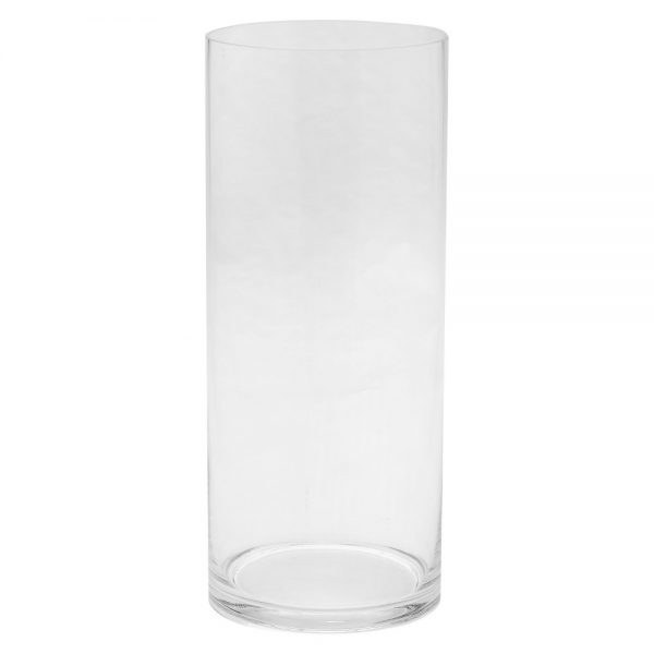 "14""x6"" Glass Cylinder Vase - Diamond Star, Clear"