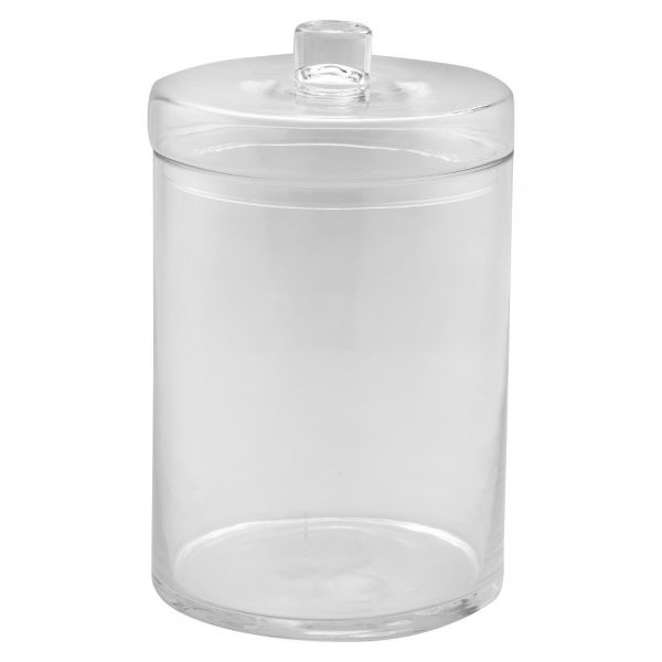 "Diamond Star Glass Apothecary Jar with Lid Clear (12.5""x8"")"