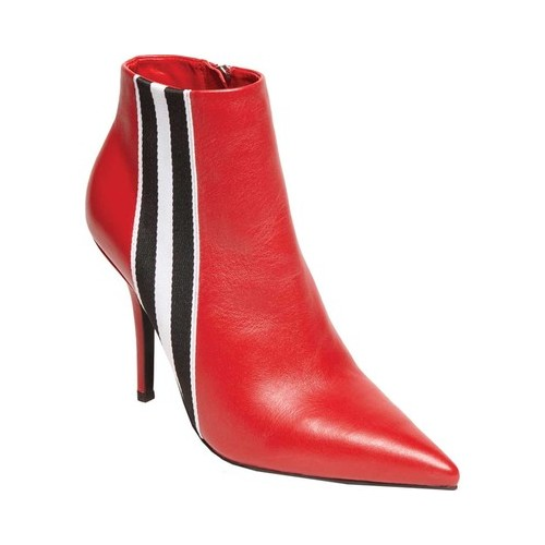 Women's Steve Madden Knock Ankle Bootie, Size: 6.5 M, Red Leather