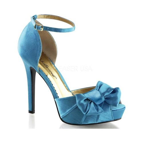 Women's Fabulicious Lumina 36 Ankle Strap, Size: 6 M, Blue Satin